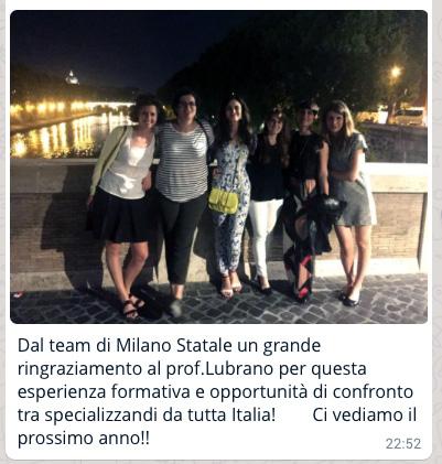 I saluti da Milano Statale PSG 2017